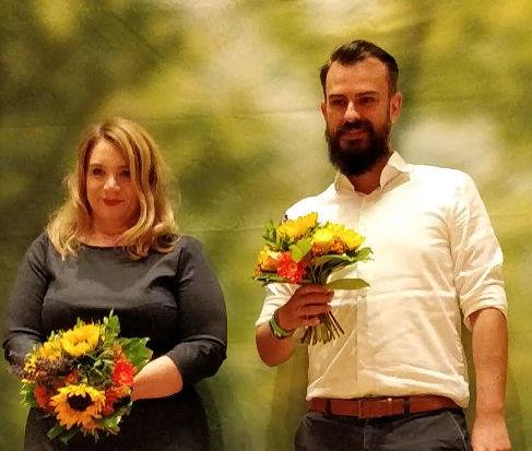 Kandidatin und Ersatzkandidat Swantje und Valentin